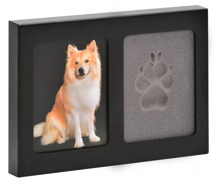 Houten fotokader + pootafdruk Afmetingen van de foto: 9 x 13 cm